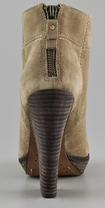 Modern Vintage Shoes Adrien Chunky Heel Booties