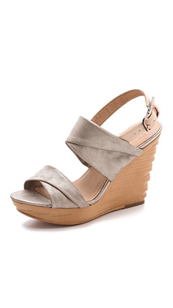 Modern Vintage Shoes Natey Wedge Sandals