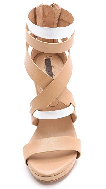 Modern Vintage Shoes Raina Saw Heel Sandals