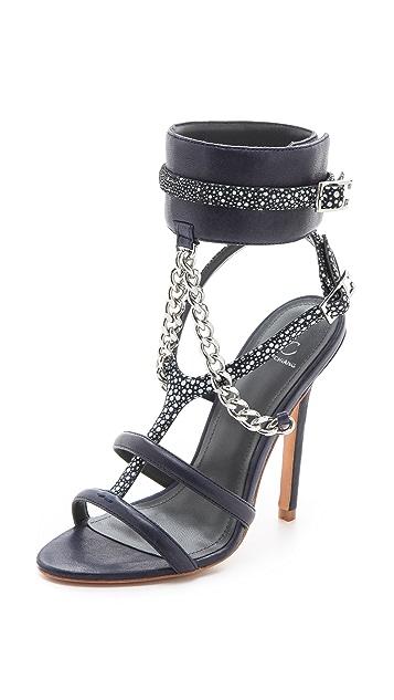 Monika Chiang Domina Chain Cuff Sandals