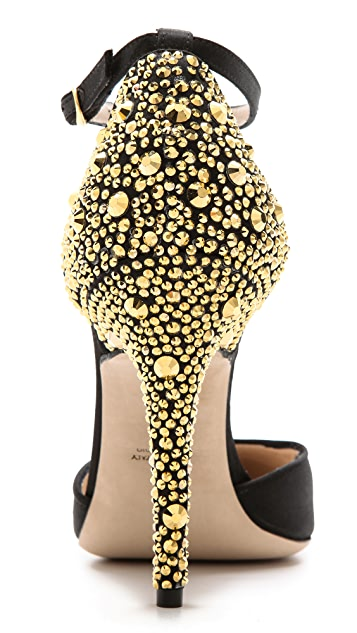 Monique Lhuillier Studded Heel Pumps