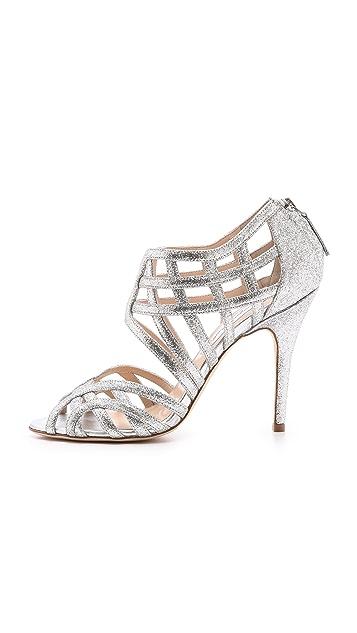 Monique Lhuillier Cutout Sandals