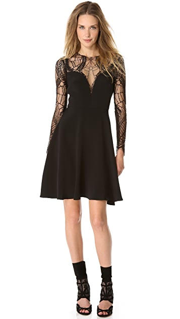Monique Lhuillier Long Sleeve Cocktail Dress