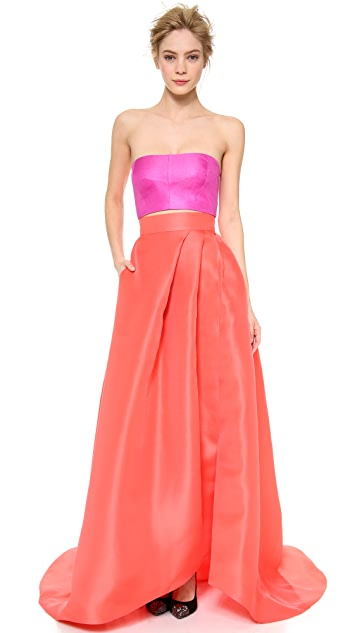 Monique Lhuillier Draped Ball Skirt