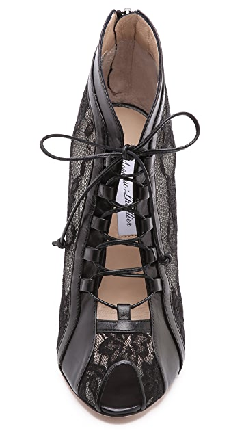 Monique Lhuillier Lace Up Booties