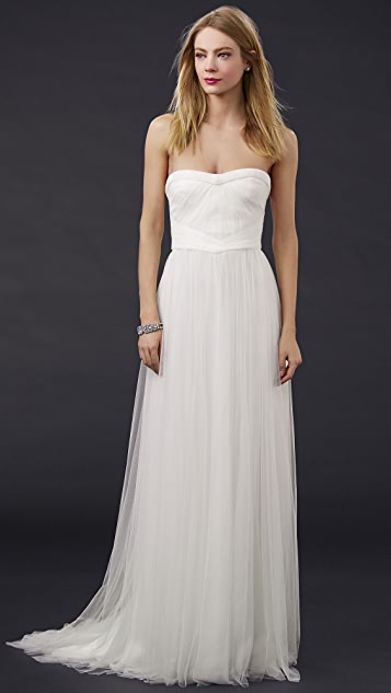 Monique Lhuillier Emanuela Sweetheart Gown