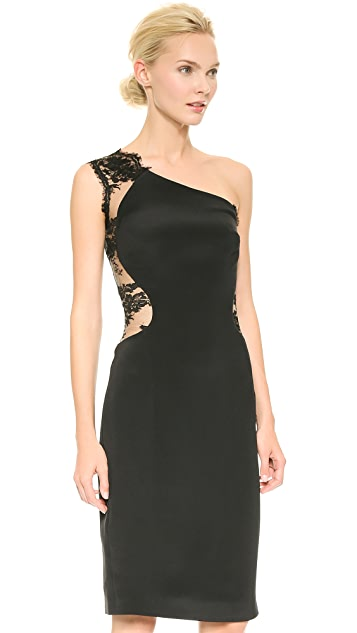 Monique Lhuillier One Shoulder Dress