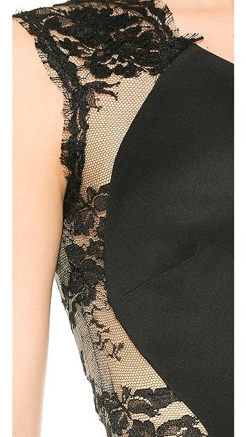 Monique Lhuillier One Shoulder Dress