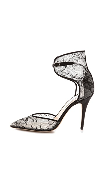Monique Lhuillier Catherine Lace Heels