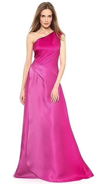 Monique Lhuillier One Shoulder Gown