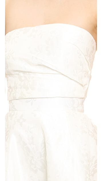 Monique Lhuillier Emmy Bandeau Top