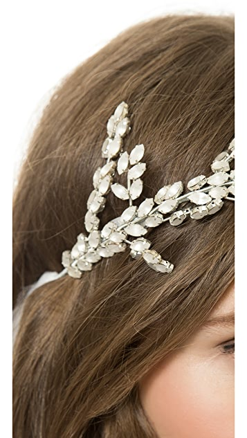 Monique Lhuillier Sylvie Headpiece with Tulle Streamers