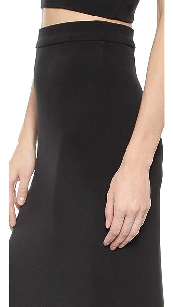 Monique Lhuillier Long Column Skirt