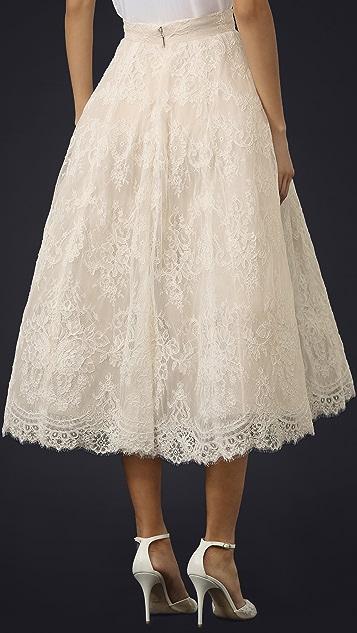 Monique Lhuillier Charlotte Tea Length Skirt