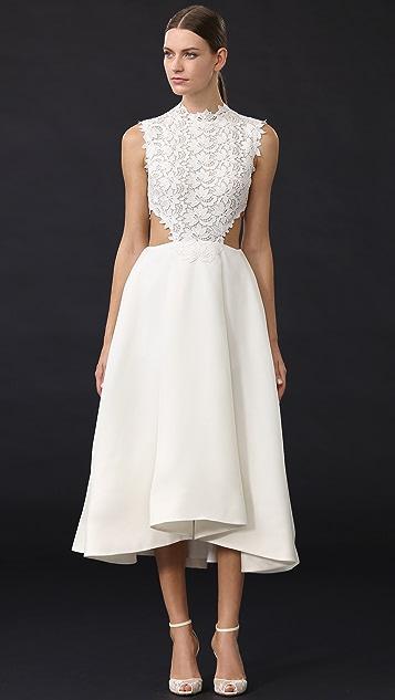 Monique Lhuillier Tea Length Dress