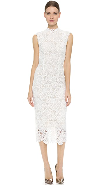 Monique Lhuillier High Neck Dress