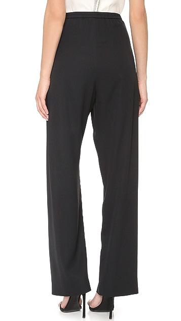 Monique Lhuillier Draped Front Pants