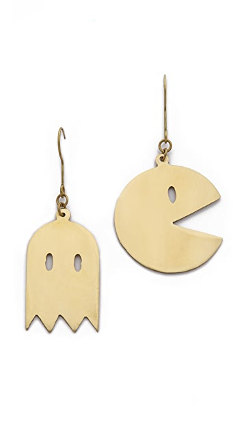 Monserat De Lucca Pac Man Earrings