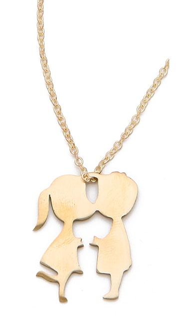 Monserat De Lucca Boy & Girl Kissing Necklace