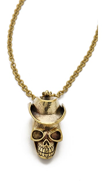 Monserat De Lucca Cowboy Skull Necklace