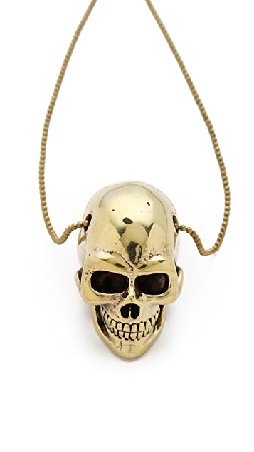 Monserat De Lucca Large Skull Necklace