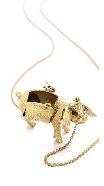 Monserat De Lucca Pig Locket Necklace