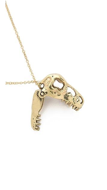 Monserat De Lucca T Rex Skull Necklace