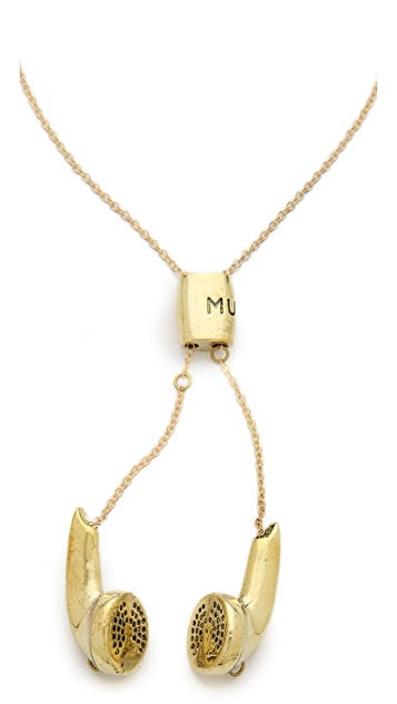 Monserat De Lucca Earbuds Necklace