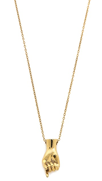Monserat De Lucca Sign Language Alphabet Necklace