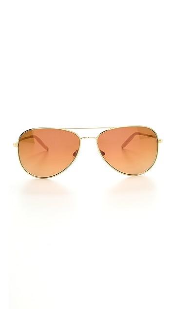Mosley Tribes Eyewear Dorset Mirror Aviator Sunglasses