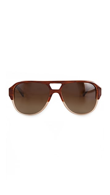 Mosley Tribes Eyewear Cosley Polarized Aviator Sunglasses