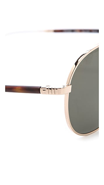 Mosley Tribes Eyewear Reynolds Polarized Aviator Sunglasses