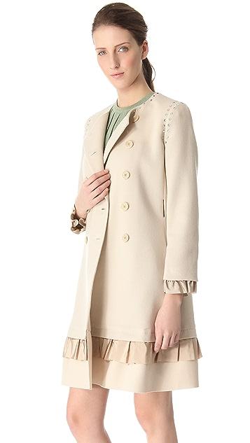 Moschino Crepe Double Pea Coat