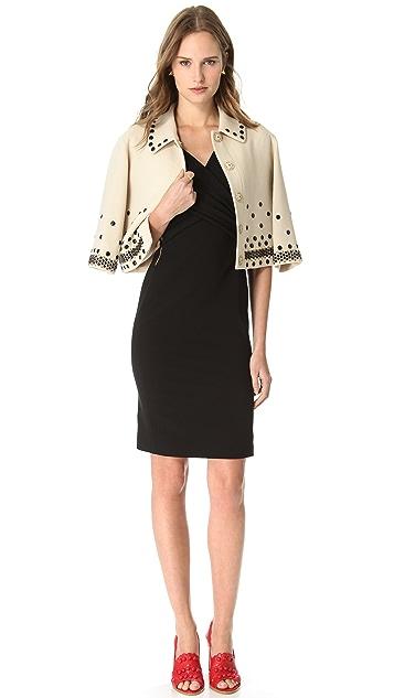 Moschino Crepe Cross Front Dress