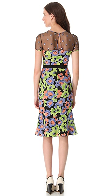 Moschino Floral Embroidered Dress