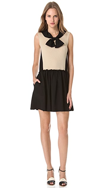 Moschino Tie Neck Dress
