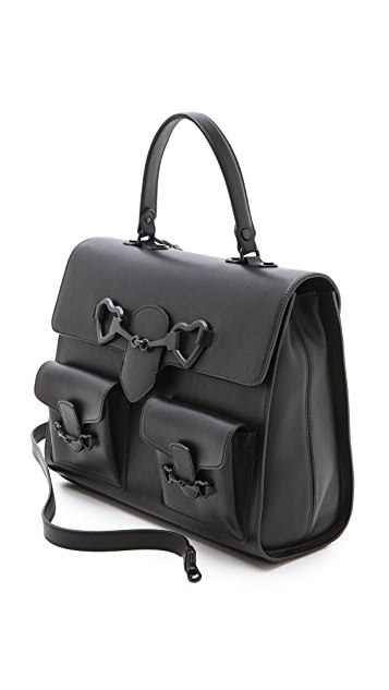 Moschino Black Satchel