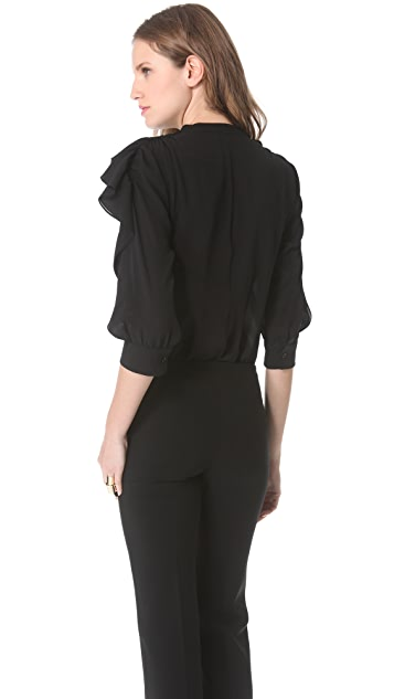 Moschino Georgette Tie Neck Blouse