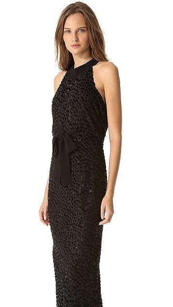 Moschino Sleeveless Devore Gown