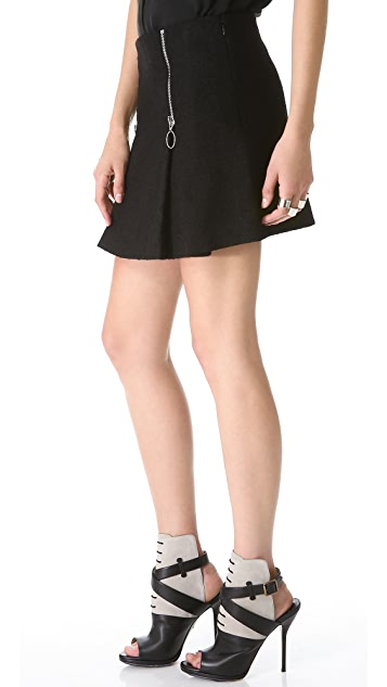 Moschino Cheap and Chic Zip Miniskirt