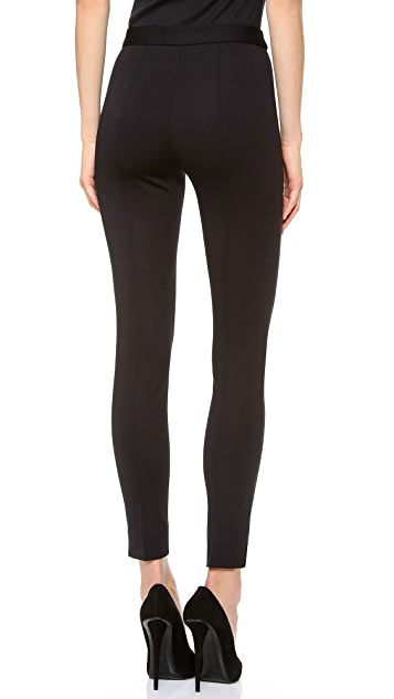 Moschino Side Zip Front Stitch Leggings
