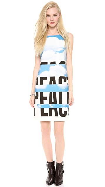 Moschino Cheap and Chic Sleeveless Peace Dress