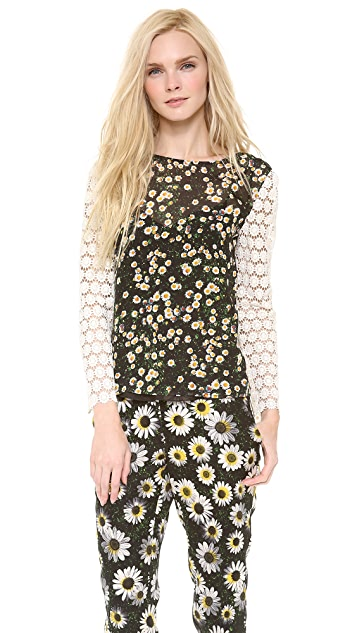 Moschino Cheap and Chic Long Sleeve Floral Top
