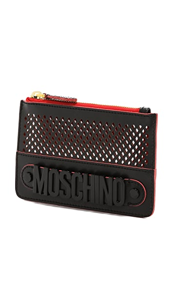 Moschino Moschino Small Perforated Pouch