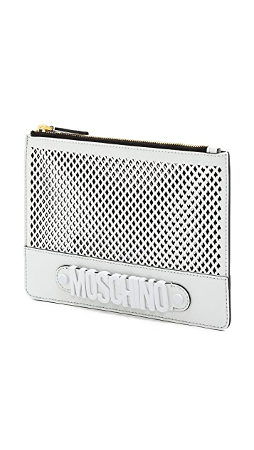Moschino Moschino Perforated Pouch