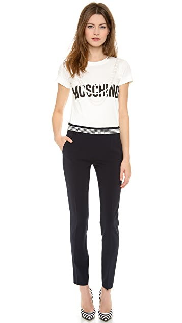 Moschino Dot Waist Straight Pants