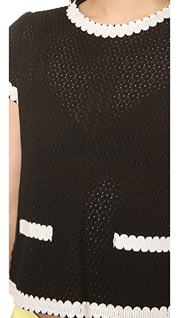 Moschino Cheap and Chic Short Sleeve Net Top