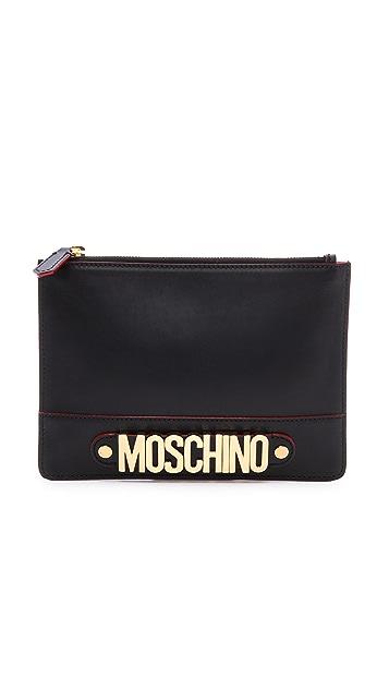 Moschino Zipper Clutch