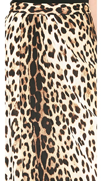 Moschino Cheap and Chic Leopard Maxi Skirt