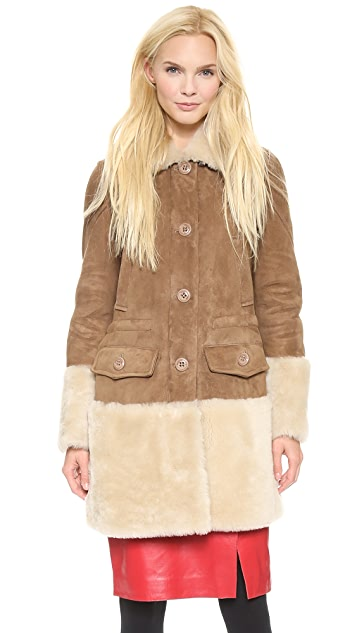 Moschino Cheap and Chic Shearling Coat